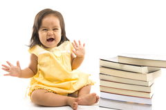 Baby and Book Royalty Free Stock Image