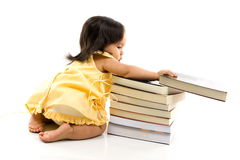 Baby and Book Royalty Free Stock Photos
