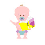 Baby with book Stock Image