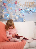 Baby with book Royalty Free Stock Photos
