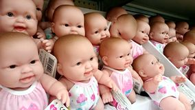 Baby boom - infant dolls Stock Image