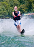 Baby boomer waterskis Royalty Free Stock Photos