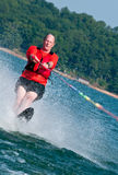 Baby boomer waterskis Royalty Free Stock Photography