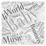 Baby boomers and breaking age related norms word cloud concept  background Royalty Free Stock Image