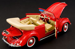 Baby boomers classic automobile. Picture of a red beautiful fun car Royalty Free Stock Image