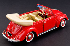 Baby boomers classic automobile. Picture of a red beautiful fun car Stock Photos