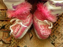 Baby Bootees Royalty Free Stock Photos