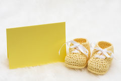 Baby Booties Royalty Free Stock Photography