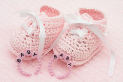 Baby Booties Stock Photo