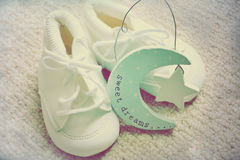 Baby booties Royalty Free Stock Image