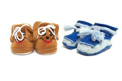 Baby boots Stock Image