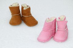 Free Baby Boots Royalty Free Stock Images - 27696569