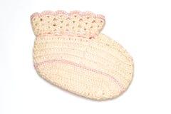 baby booty knit vintage Στοκ φωτογραφία με δικαίωμα ελεύθερης χρήσης