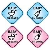 Baby an Bord Lizenzfreie Stockfotos