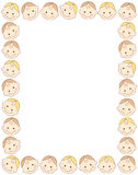 Baby border / frame. Cute smiling baby faces frame / border Royalty Free Stock Photography