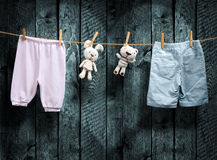 Baby is born  Boy or girl? Stock Image