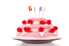 Baby born cake Stock Image