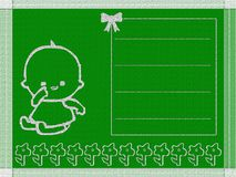 Baby born card Stock Photo