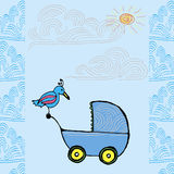 Baby born card Royalty Free Stock Image