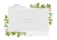 Free Baby Born Greeting Card With Floral Elements. Baby Shower Template Photo Frame With Flowers. Newborn Child, Wedding Invitation Royalty Free Stock Photos - 144839878