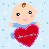 Baby born. Illustration of a baby born Royalty Free Stock Image