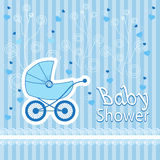 Baby born pattern on blue background Stock Photography