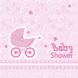 Baby born pattern on pink background. Postcard baby born pattern on pink background Stock Photo
