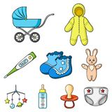 Big collection of baby born vector symbol stock illustration. Baby born set icons in cartoon design. Big collection of baby born vector symbol stock illustration vector illustration