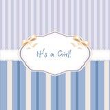 Baby born. vector congratulation card Royalty Free Stock Image
