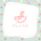 Baby born. vector congratulation card Royalty Free Stock Image