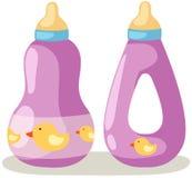 Baby bottle. Illustration of isolated baby bottle on white background royalty free illustration