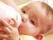 Baby bottle. Royalty Free Stock Images