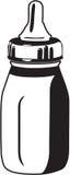 Baby Bottle. Line Art Illustration of a Baby Bottle royalty free illustration