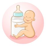 Baby with a bottle Royalty Free Stock Photos