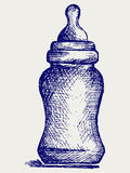 Baby bottle. Doodle style. Vector EPS 8 vector illustration