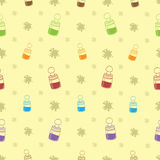 Baby Bottle Background Pattern Royalty Free Stock Image