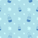 Baby Bottle Background Pattern Stock Image