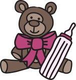 Baby Bottle Bear Stock Photo