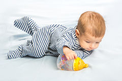 Baby and bottle Royalty Free Stock Photo