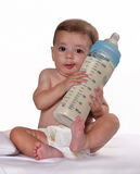 Baby bottle feeding. Royalty Free Stock Photos