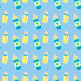 Baby bottle seamless pattern Stock Image