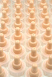 Baby bottle teats. Production of Baby bottle teats Royalty Free Stock Photo