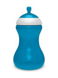 Baby bottle on white background. Isolated 3D Royalty Free Stock Image
