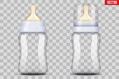Baby bottles with nipple pacifier Royalty Free Stock Images