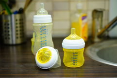 Baby bottles Stock Photography