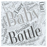 Baby bottles 16 word cloud concept vector background. Text royalty free illustration