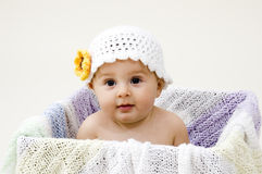 Baby in Box Royalty Free Stock Photo