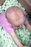 Baby in a box Royalty Free Stock Images