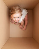 Baby in the box Royalty Free Stock Photos