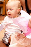 Baby on box presents Royalty Free Stock Photography